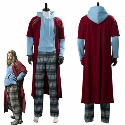 The Avengers 4 Endgame Fat Thor Outfit Cosplay Costume Halloween Men Suit