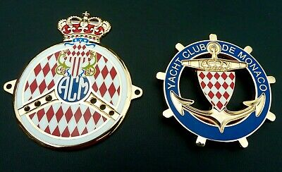 Automobile Club  Monaco Car Grille Badge - Acm + Yacht Club Monaco Grille Badge