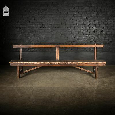 19th C Pine Bench Seat with Scumble Finish