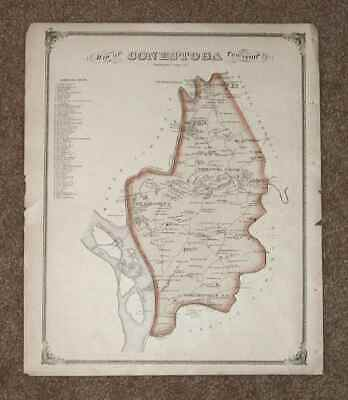 1875 Colored Map Conestoga Township From Historic Atlas Lancaster County PA