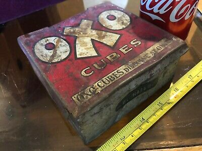OXO Cubes Tin Vintage Metal Classic For Gravies and Stews Empty Storage W