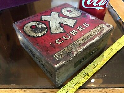 OXO Cubes Tin Vintage Metal Classic For Gravies and Stews Empty Storage MM