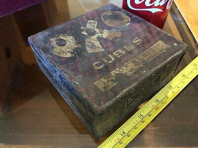 OXO Cubes Tin Vintage Metal Classic For Gravies and Stews Empty Storage SS