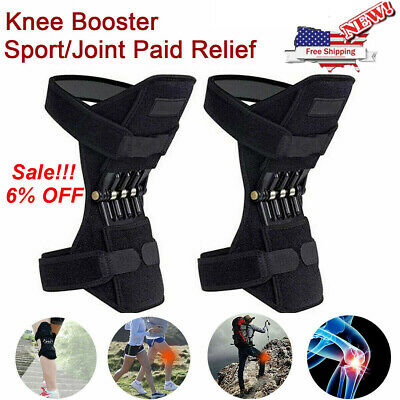 2Pcs Power Knee Stabilizer Pads Powerful Rebound Spring Force Lift Joint Support