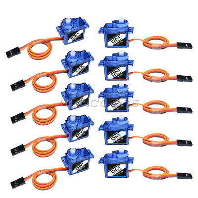 10PCS Mini Micro 9G SG90 Servo For Car Boat RC Robot Helicopter Airplane