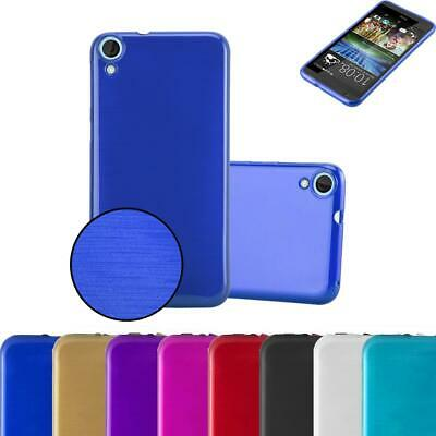 Silicone Case for HTC Desire 820 Shock Proof Cover Metallic Brushed TPU