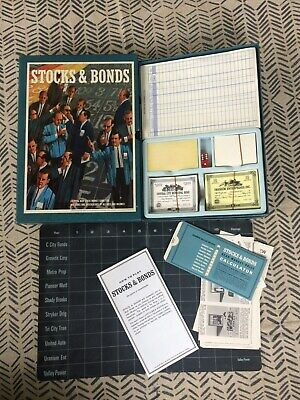 Vintage 1964 3M Stocks and Bonds bookshelf game. Awesome!