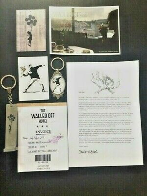 Banksy Girl With Balloons Key Ring From The Walled Off Hotel & Rare Extras