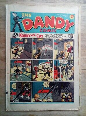 Dandy comic No. 99 from October 21st 1939 - WW2 ARP - 80th Birthday present?