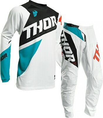 2020 Thor Sector Blade White Aqua Offroad MX Motocross Race Kit Gear Adult