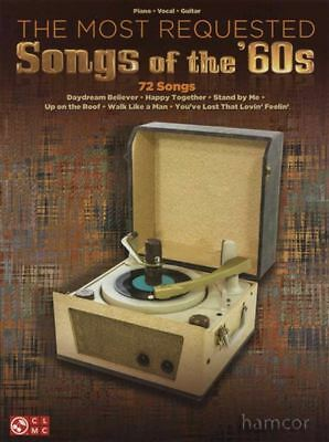 The Most Requested Songs of the 60s Piano Vocal Guitar Sheet Music Book