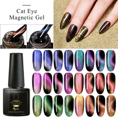 MTSSII 5D 6ml Magnetic Cat Eye UV Gel Nail Polish Soak Off Varnish Manicure Tips
