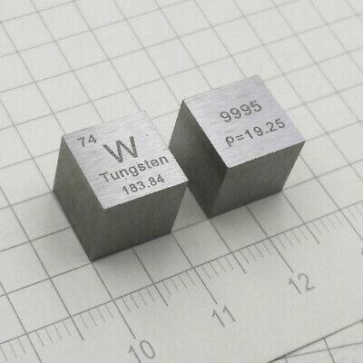 99.95% Pure W Tungsten Metal Carve Element Periodic Table 10*10*10mm Cube 19.16g