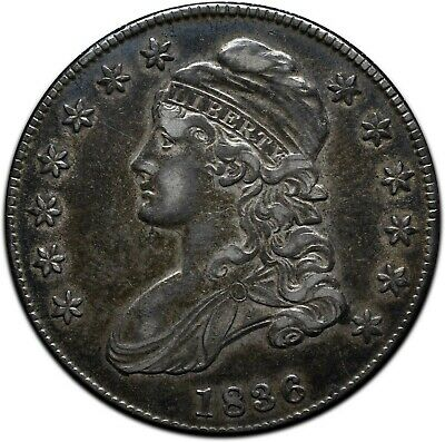 1836 Capped Bust Silver Half Dollar 50¢ Coin Lot# A 425