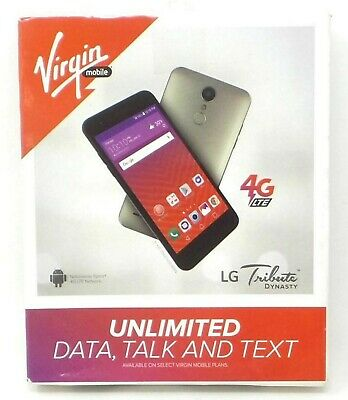 NEW VIRGIN MOBILE LG Tribute HD White Prepaid LTE Smartphone 16GB