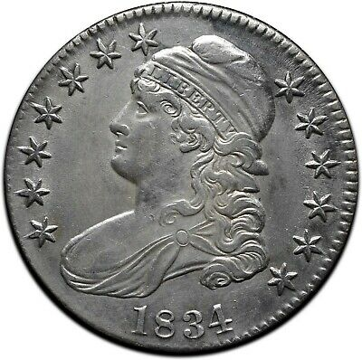 1834 Capped Bust Silver Half Dollar 50¢ Coin Lot# A 427