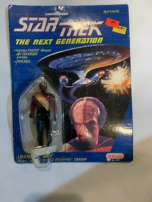 STAR TREK toy LIEUTENANT WORF Figure galoob #5340 Paramount 1988 PhaserTricorder