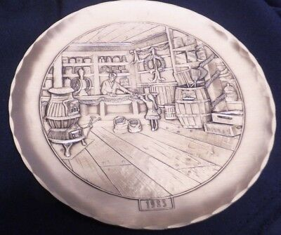 Wendell August Forge Old Country Store Christmas Plate 1983 Bronze #59