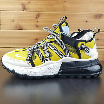 newest 62496 25626 NIKE AIR MAX 270 Bowfin Shoes Cream Yellow Black - AJ7200-300