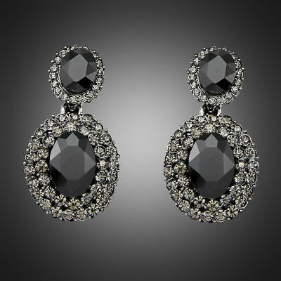 High Quality Hot sale Black Rhinestone Fashion Women Party Jewelry Earring Gifts