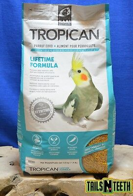 Tropican LifeTime 2mm Granules for Parrots 1.8kg - Made In Canada
