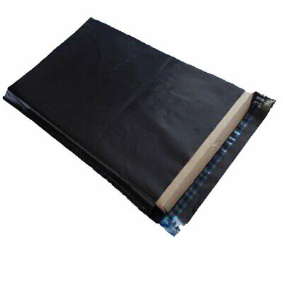 """500 Black 10"""" x 14"""" Extra Strong Mailing Postage Postal Mail Bags"""