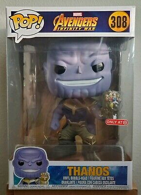 "Funko Pop! Marvel Avengers Infinity War THANOS 10"" Inch Target Exclusive"