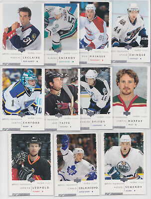 2002-03 UD Artistic Impressions Rookie Images 11 Card RC Lot NHL Hockey