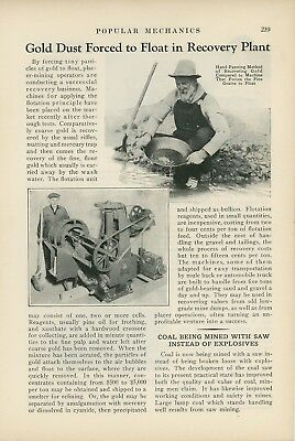 1933 Machines for Recovering Gold Dust Mining Panning Bullion