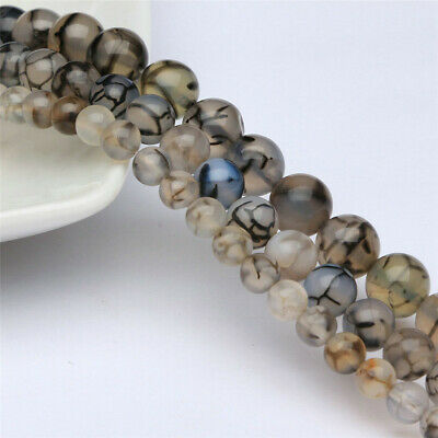 10mm Natural Round Dragon Agate Loose Beads Diy Accessories Healing