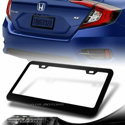 1 x Black Aluminum Alloy Car License Plate Frame Cover Front Or Rear US Size