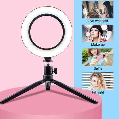 LED Ring Light With Stand Dimmable Makeup Phone Camera Selfie Lighting Gift
