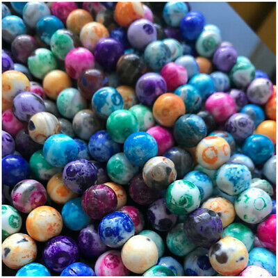 8-12mm Natural Round Fire Agate Loose Beads Diy Accessories Top Spacer Healing