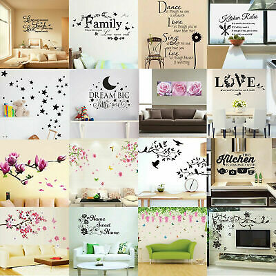 Quote 3D Wall Stickers Vinyl Word Home Room DIY Art Decal Removable Mural Decor