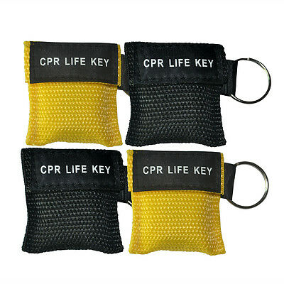 100pcs/pack CPR Face Shields Rescue First Aid Disposable Keychain CPR Masks