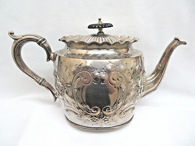 Antique 1875 Hukin & Heath England Silver Plated Teapot