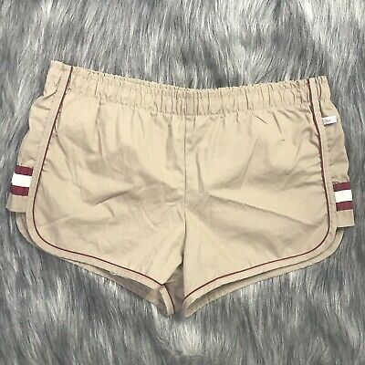 Vintage JANTZEN Men`s Swim Trunks Lined Swim Shorts size 34 M Tan Retro Short