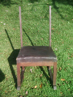 Antique/Vintage Oak Wood Rocking Chair Missing Top Back/A Rung Needs Work/Repair