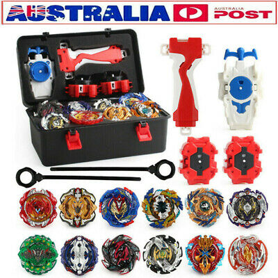 12x Burst Beyblade Starter Spinning Top Gyro Fight Bayblade With Launcher in box
