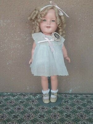 "Shirley Temple vintage Ideal 11"" doll composition dress pet smoke free pin back"
