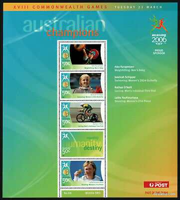 2006 Commonwealth Games Gold Medallists Sheetlet #09 MUH Mint Stamps Australia