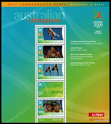 2006 Commonwealth Games Gold Medallists Sheetlet #11 MUH Mint Stamps Australia