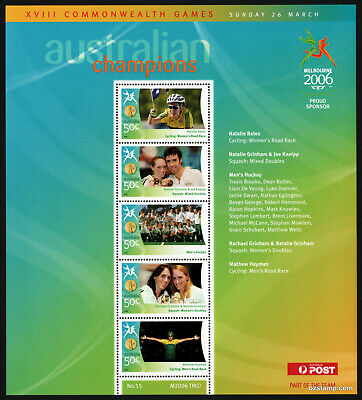 2006 Commonwealth Games Gold Medallists Sheetlet #15 MUH Mint Stamps Australia