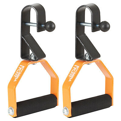 Mirafit 2 x Rotating Chin/Pull Up Handles Chinning Strength Workout Bar Exercise