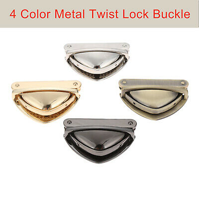 Metal Round Shape Clasp Turn Lock Twist Lock for DIY Bag Handbag Purse Hardware