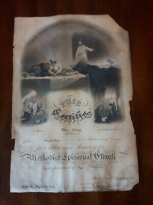 Antique Print 1864 Missionary Society of the Methodist Episcopal Church...