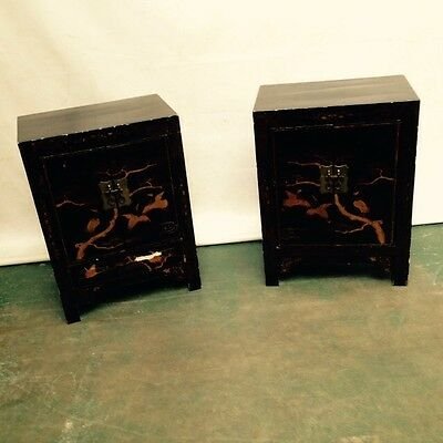 A Very Near Pair Of Lacquered Side Cabinets