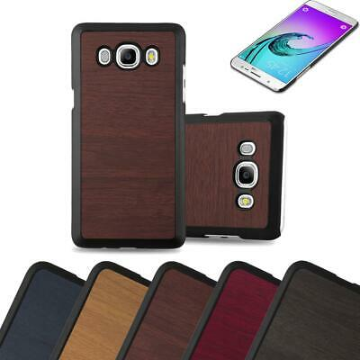 Hard Cover for Samsung Galaxy J7 2016 Shock Proof Case Wooden Style Rigid TPU