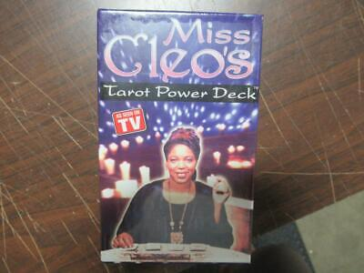 Miss Cleos cleo's Tarot Power Deck of Cards Factory SEALED