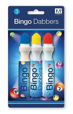 Bingo Dabbers Marker Pens Mixed Colours Set Pack of 3